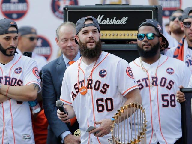Dallas Keuchel Got Hurt In The Astros' Championship Parade
