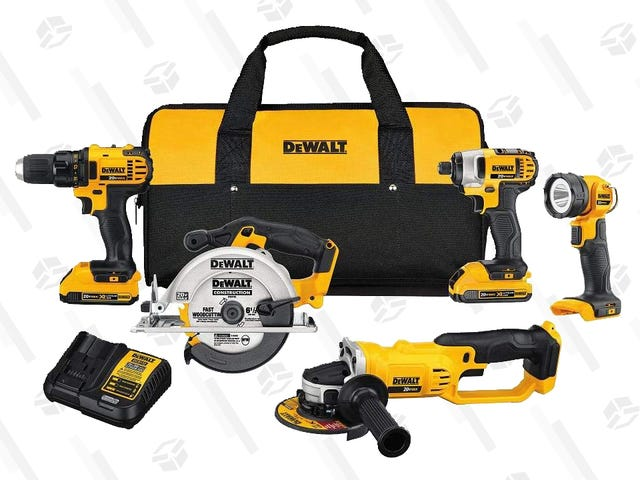 Save Big on a Few DEWALT Tools, Today Only