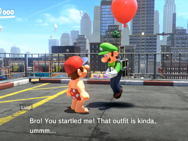 Luigi Will Comment On YourSuper Mario OdysseyOutfits
