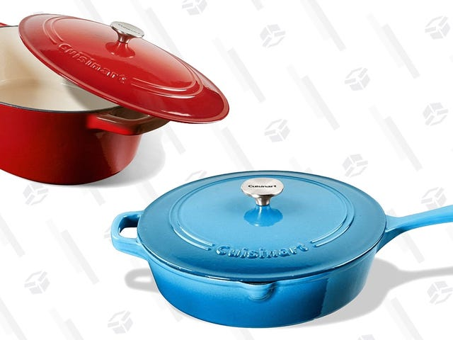 Braise Be, Cuisinart's Essential Cast Iron Cookware Is Deeply Discounted, Today Only
