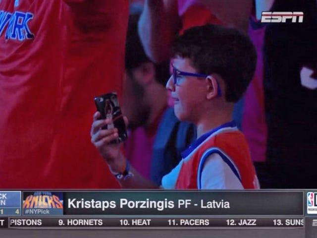 Crying Knicks Child Is Now è un grande fan di Kristina Porzingis