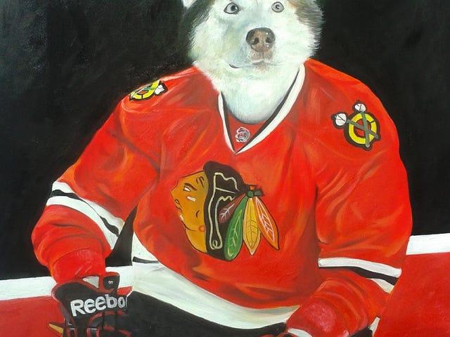 Narito Sigurado Ang ilang mga Portraits ng Mga Alagang Hayop Bilang NHL Player
