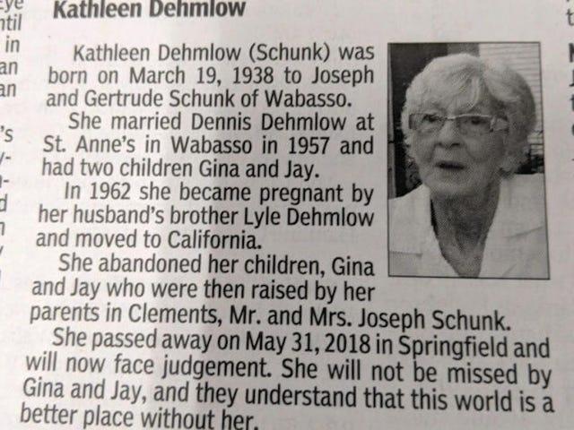 Este Obituário é implacável