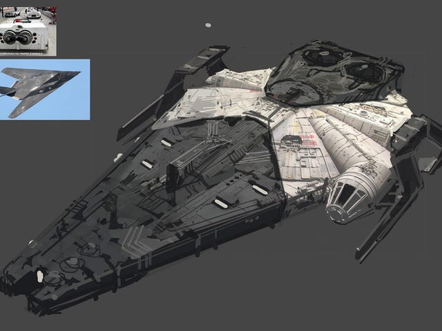 These 30 Alternate Designs of Solo's Millennium Falcon Are Wild