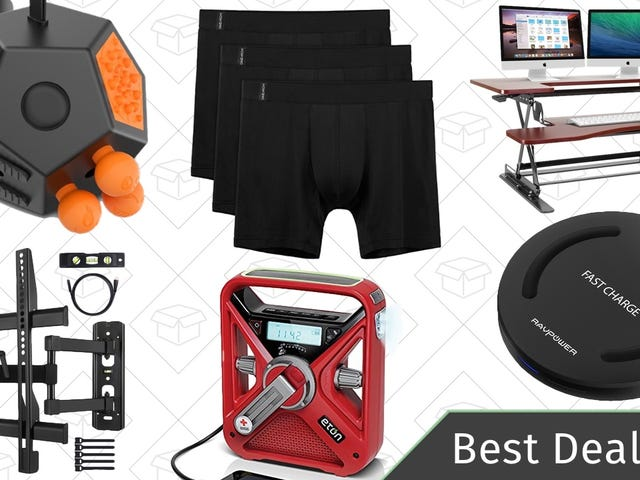 Saturday's Best Deals: Standing Desks, TV Mounts, Qi Charger, and More