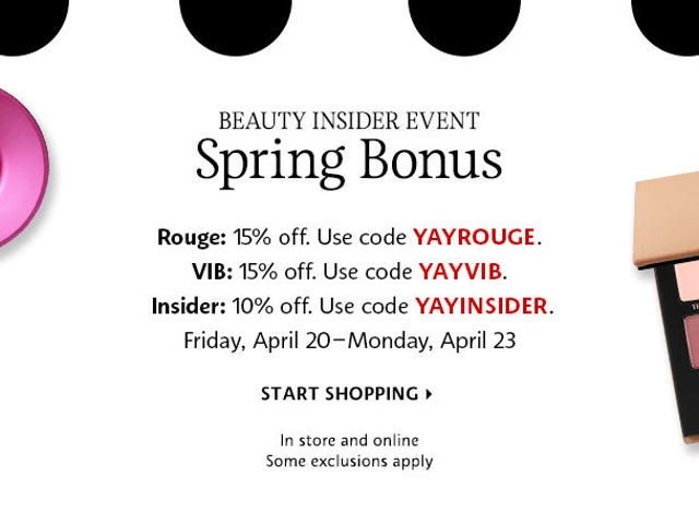 Sephora's Spring Bonus Event Is Here, So You'd Better Stock Up