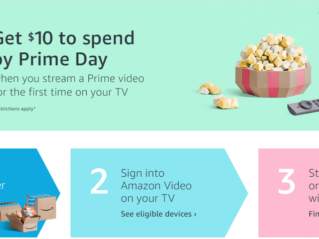 Stream Any Free Prime Video For the First Time, Get a $10 Amazon Credit