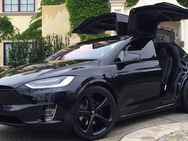 Just got my first up close look at a Tesla.
