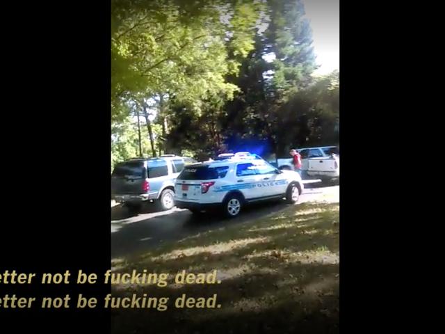Charlotte Skydda offerets kvinna filmad dödlig möte med polisen