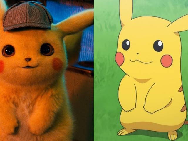 Película vs anime: así son los pokémon realistas de Detective Pikachu