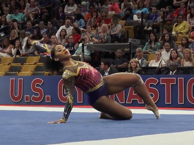 A Real-Life Wonder Woman Dazzles at the USA Gymnastics Championship