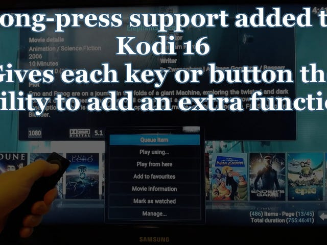 Kodi 16 Brings Long-Press Support to TV Remotes, an Improved Add-On Manager, and More