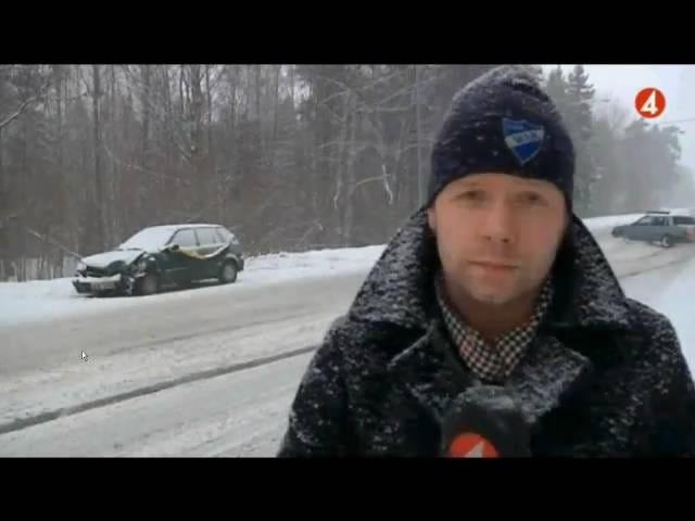 Volvo Driver vinder vinter, sne drift på nyhederne