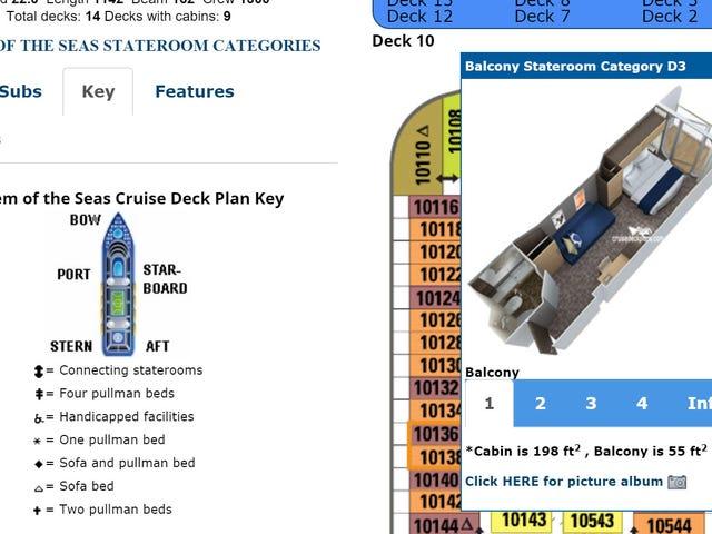 Cruisedeckplans lo ayuda a elegir la mejor cabina para su crucero