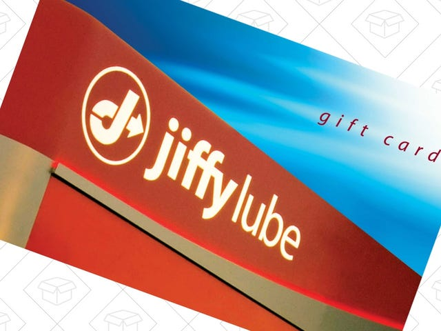 이 할인 된 Jiffy Lube 선물 카드를 사용하여 다음 오일 교환시 $ 10 할인