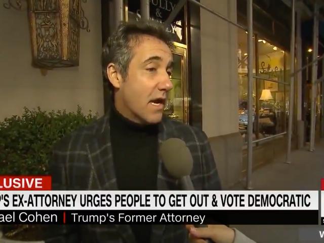 Michael Cohen's Turtleneck Wants You To Vote Democrat