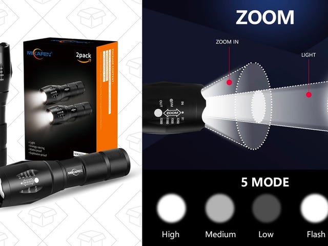 Grab Two Zoomable LED Flashlights For $10