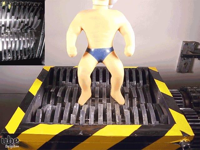 Nigdy nie zapomnij o dźwięku Stretch Armstrong Toy Rozdrobnione