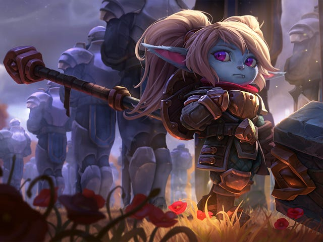 Le nouveau et (heureusement amélioré) Poppy est enfin en ligne dans League of Legends.  Maintenant, laissez le click-racing du champion sélectionner commencer!