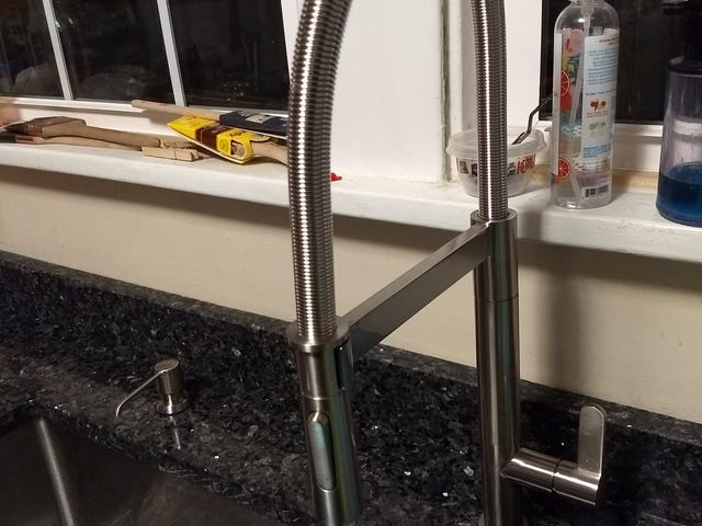 We have faucet. Repeat, we have faucet. This is not a drill!