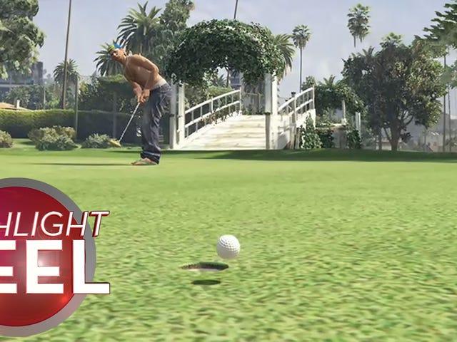GTA Golfer kæmper mod fysik og taber