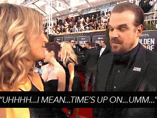 David Harbour har ingen ide Hvilke #TimesUp-midler er alle dudes på Golden Globes i et nøtteskall