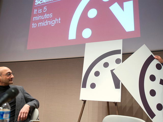 Doomsday Clock Now Three Minutes To Midnight