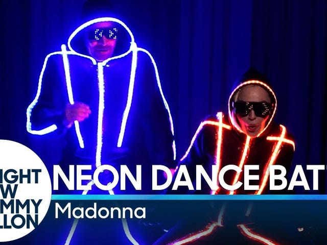 Madonna and Jimmy Fallon face off in a Neon Dance Battle on The Tonight Show