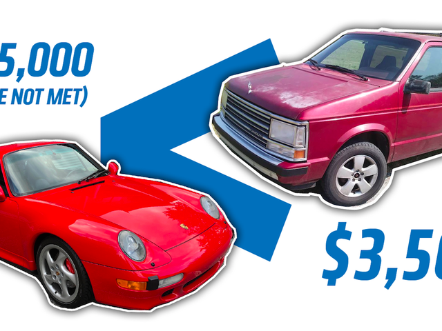 Hvorfor kjøpe denne 33k-Mile Porsche 911 for over $ 165,000 når du kan få en 254k-Mile Turbo Plymouth Voyager for $ 3.500?