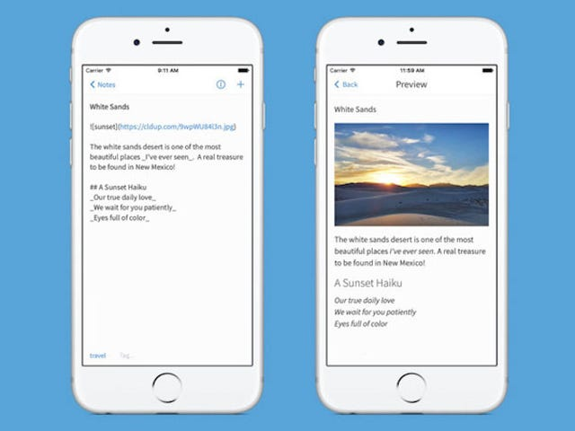 Simplenote for iPhone Adds Support for Markdown