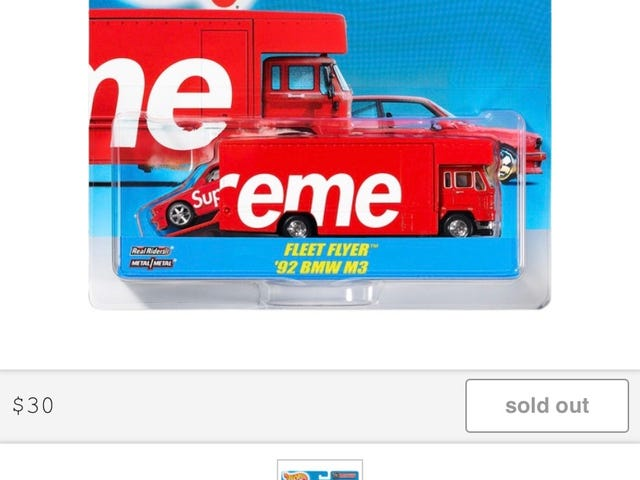 Hot Wheels Supreme branded Team Transport Sold Out in Seconds