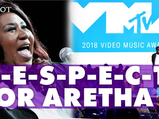Watch: Stars on the 2018 MTV Video Music Awards' Red Carpet Put Some R-E-S-P-E-C-T on Aretha's Name