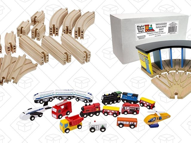 Get All of Your Wooden Train Accessories For the Year From This One Day Amazon Sale