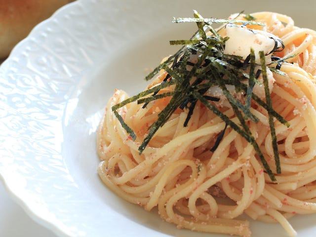 Syö mentaiko spagettia, meren karbonaraa