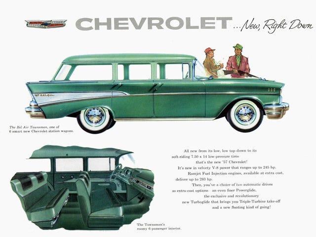 1957年に戻って、あなたが内部スペースのトンが欲しかったならば、あなたはSUVまたはミニバンを買う必要はなかった。 あなたはこのシボレーを選ぶことができました…