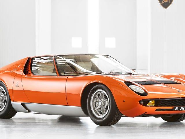 Miura en 'El trabajo italiano' encontrado después de décadas en la oscuridad y restaurado por Lamborghini