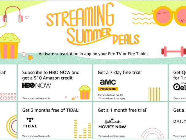Amazon's Offering Extra Incentives and Extended Trials On a Variety of Streaming Services