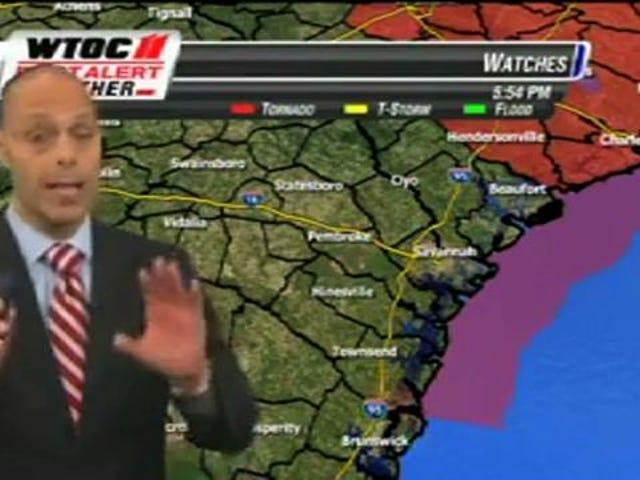 Une chaîne de télévision interrompt un putt mort gagnant pour faire un reportage sur la météo