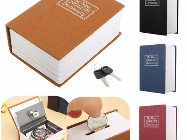 Dictionary Mini Safe Box Book Money Hide Secret Security Safe