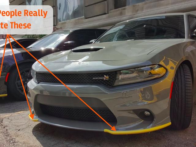 """Det är fantastiskt hur mycket folk hatar Dodge Charger och Challenger Midlertidig """"Air Dam Shipping Cover"""" Mod"""