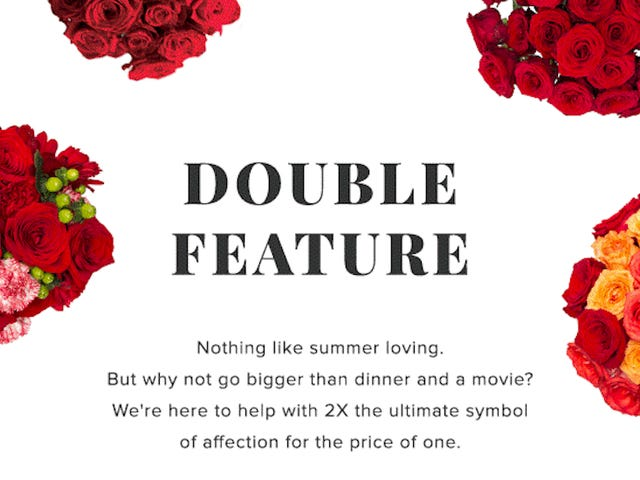 Send Double the Love with Double the Flowers from The Bouqs