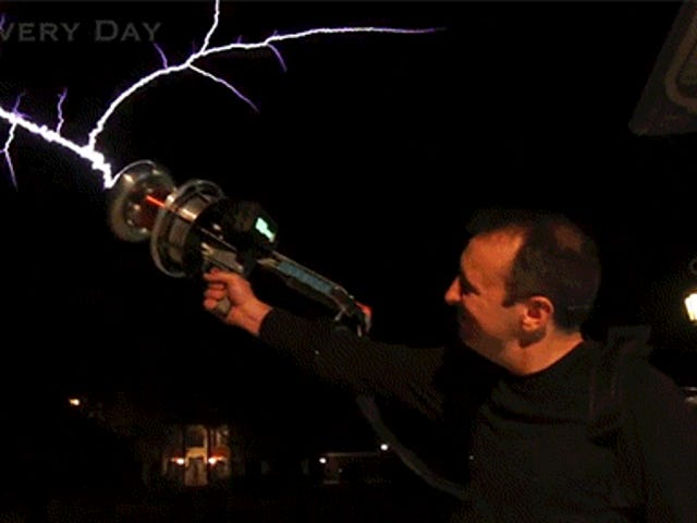 Shooting a Tesla Coil Gun Is Some Real Ghostbusters Shit
