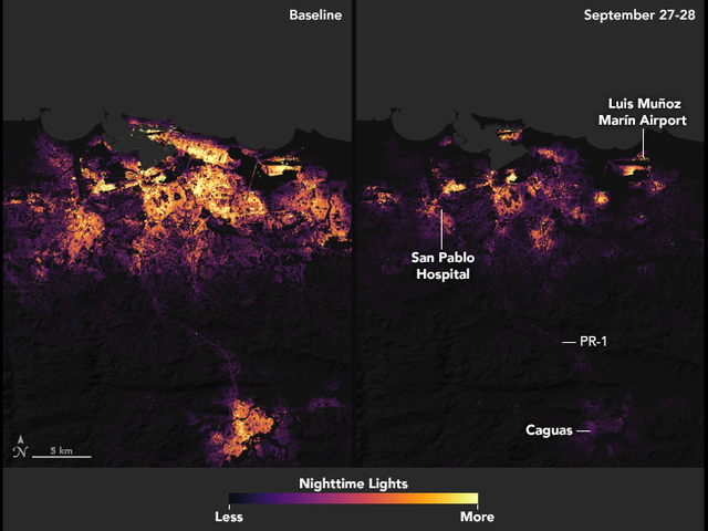 These NASA Images Of Puerto Rico's Power Loss Are Staggering