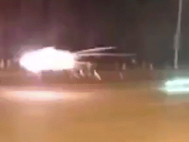 Two Guys Shooting Huge Ass Fireworks at Each Other Somehow Don't Kill Each Other