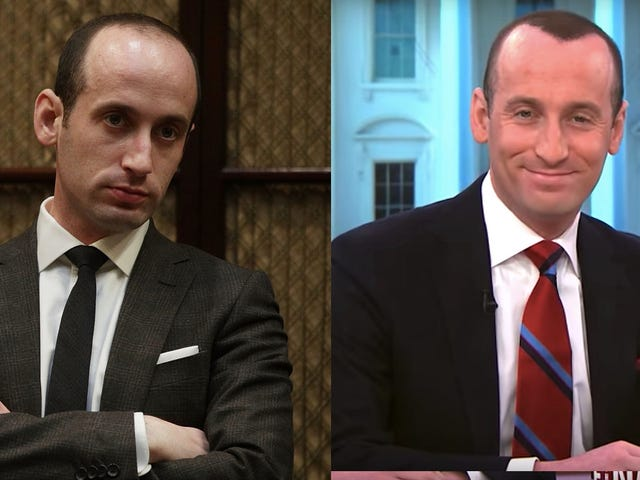 Stephen Miller Should've Gone to a Black Barber, Instead He Sprayed-Painted His Scalp With White Man Bigen