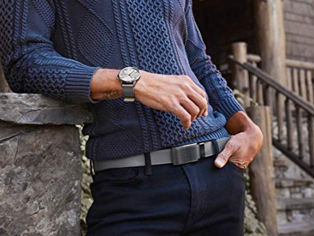 Live Between the Belt Holes With These Discounted Leather Ratchet Belts