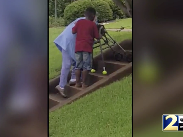 This Video of a Georgia Boy Helping an Elderly Woman Up the Stairs Is the Feel-Good News We All Deserve to See