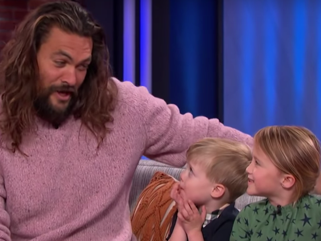 Okay, this is precious: Kelly Clarkson's kids ask Jason Momoa if he knows Ariel