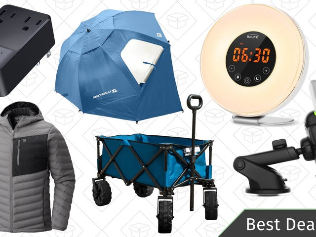 Saturday's Best Deals: Wake-Up Lights, Utility Cart, Qi Charging Pads, and More