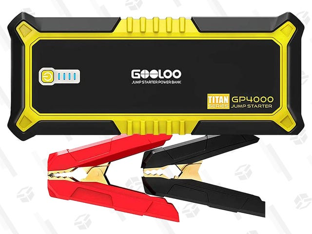 Pick Up Gooloo's 4000A Peak SuperSafe Car Jump Starter for $85 Right Now